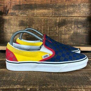 Vans Womens Checkerboard Slip On Skate Shoes Sz 8